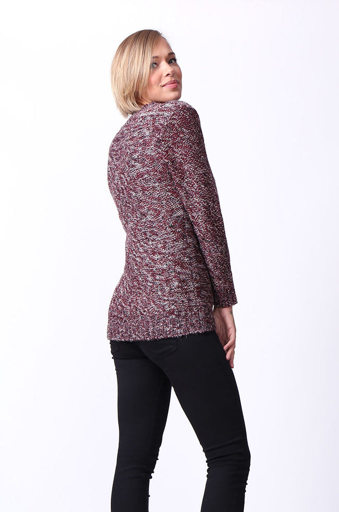 SF0072-ROSE TWEEDY LONG SLEEVE CABLE KNIT JUMPER view 2