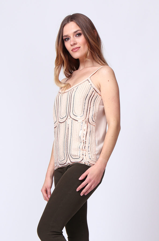 SGD0153-STONE SEQUIN VEST TOP view 2