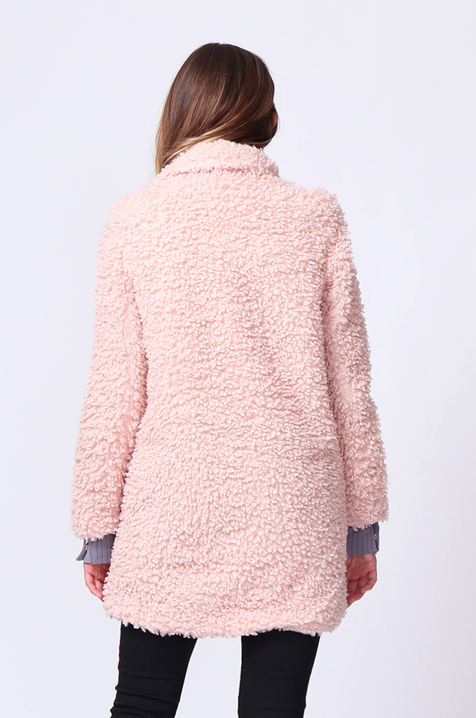 SD0196-PINK FLUFFY BOUCLE JACKET view 3