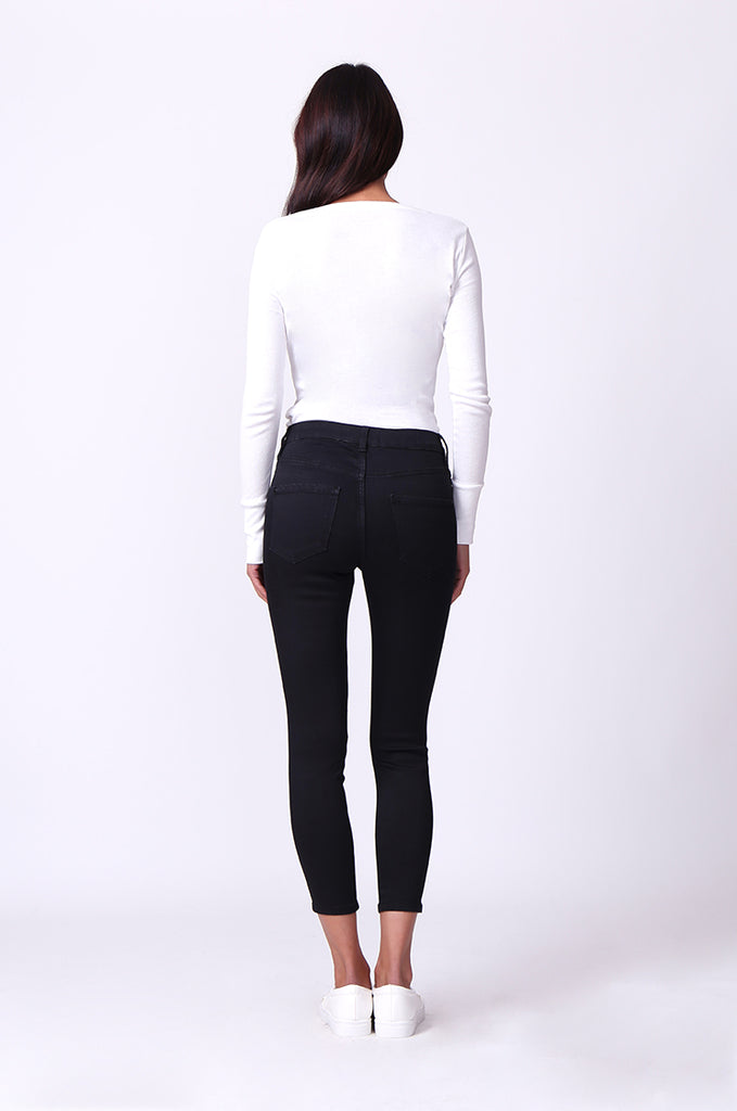 SF0230-BLACK POPPY SKINNY JEANS view 3