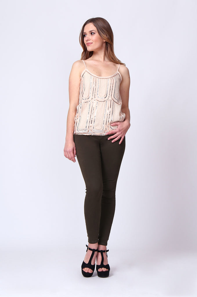 SGD0153-STONE SEQUIN VEST TOP view 4