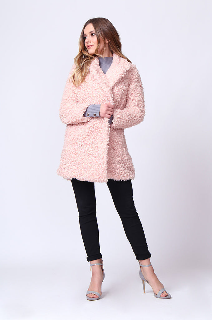 SD0196-PINK FLUFFY BOUCLE JACKET view 4