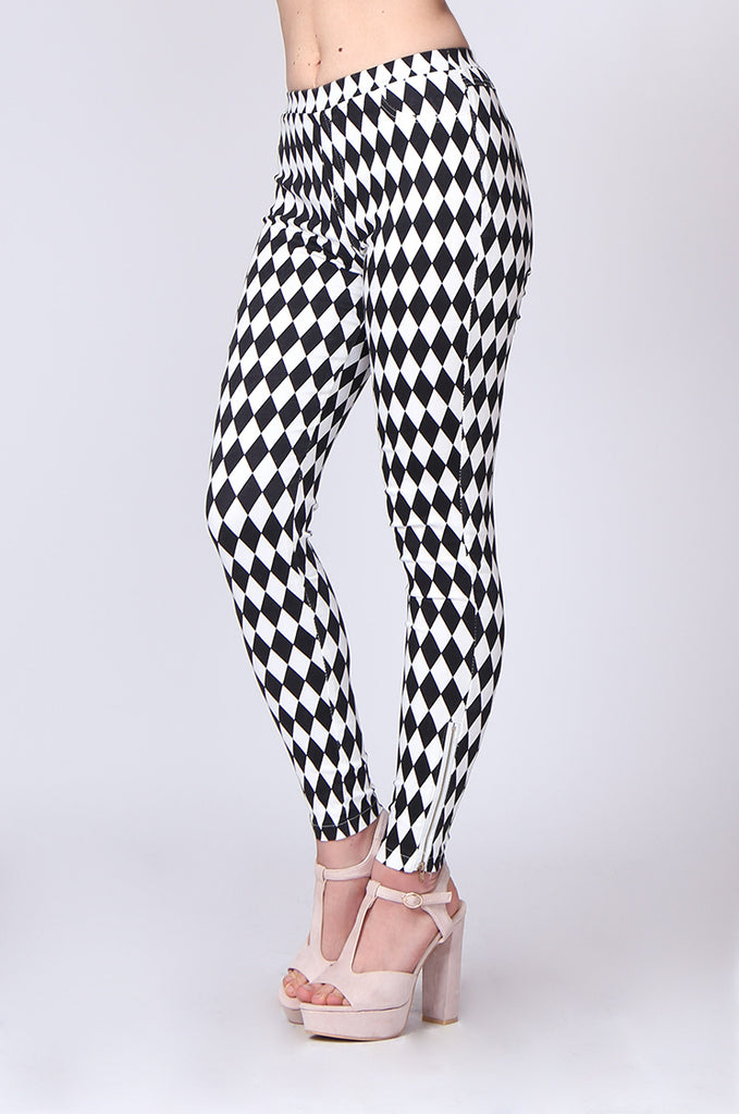 DIAMOND PRINT JEGGING