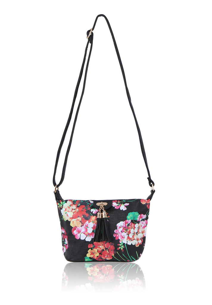 FLORAL CONTRAST SHOULDER BAG