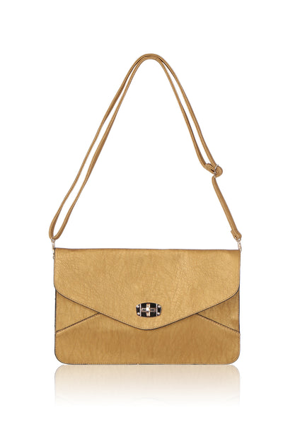 SMB1088-GOLD METALLIC ENVELOPE BAG