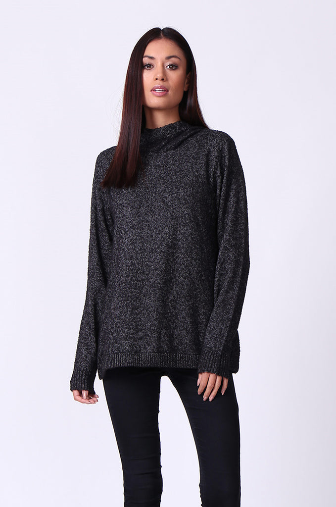 BOUCLE HOODED JUMPER