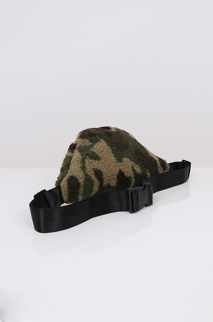 SPS2361-GREEN CAMO TEDDY BUM BAG view 2