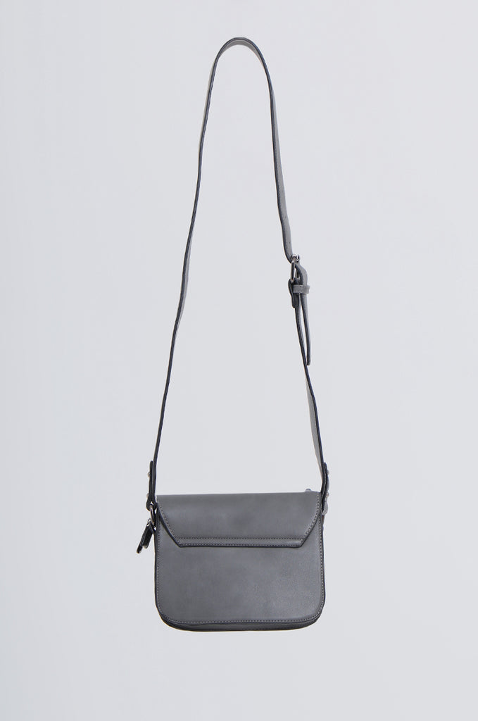 SMB2170-CHARCOAL STUDDED FRONT CROSS BODY BAG view 3