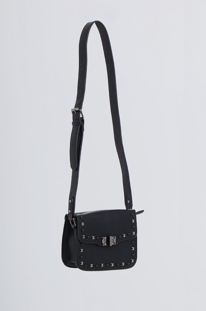 SMB2170-BLACK STUDDED FRONT CROSS BODY BAG view 2