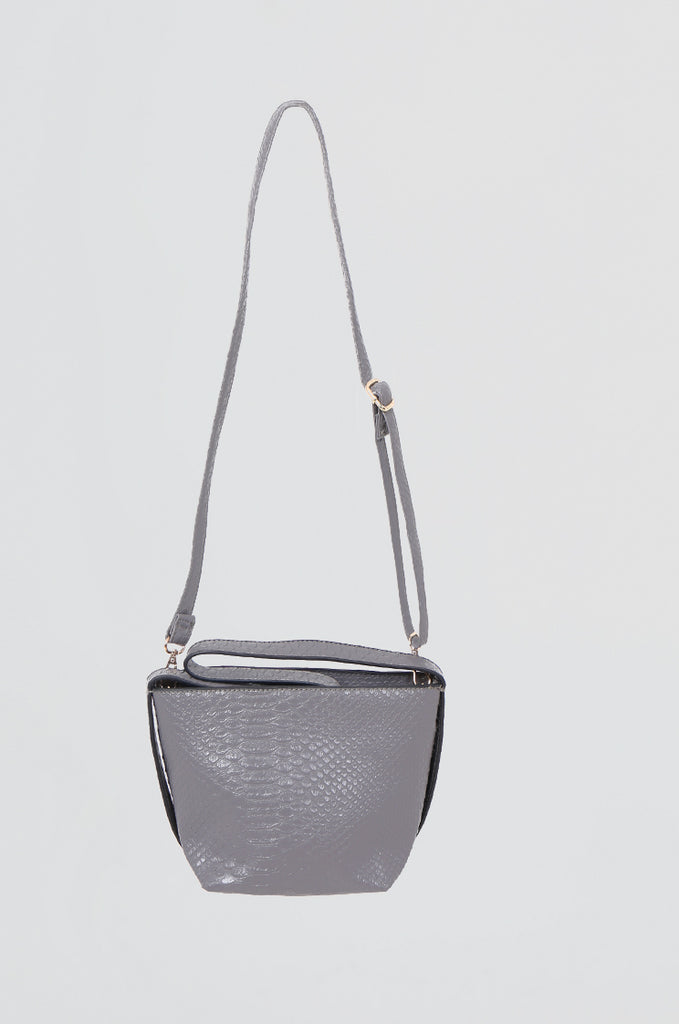 SMB0466-GREY CROCODILE SHOULDER BAG
