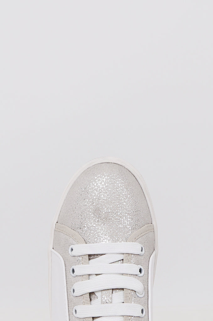 SMY2400-SILVER CONTRAST STUDDED HEEL TRAINER view 2