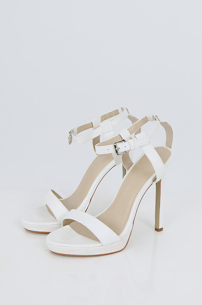 SES2488-WHITE ANKLE STRAP STILETTOS view main view