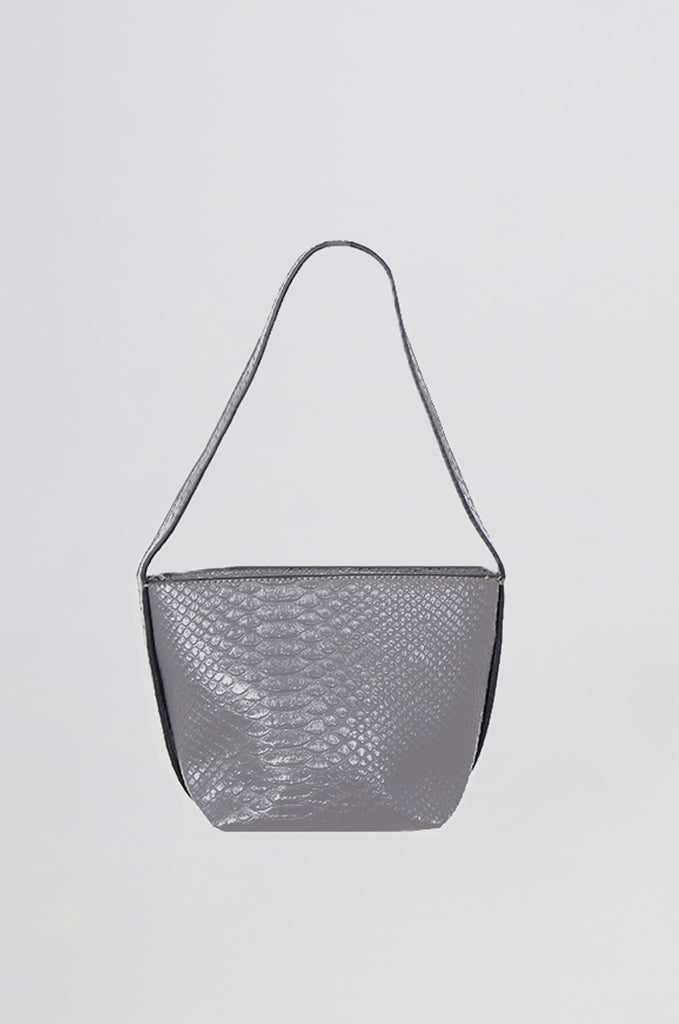 SMB0466-GREY CROCODILE SHOULDER BAG view 2