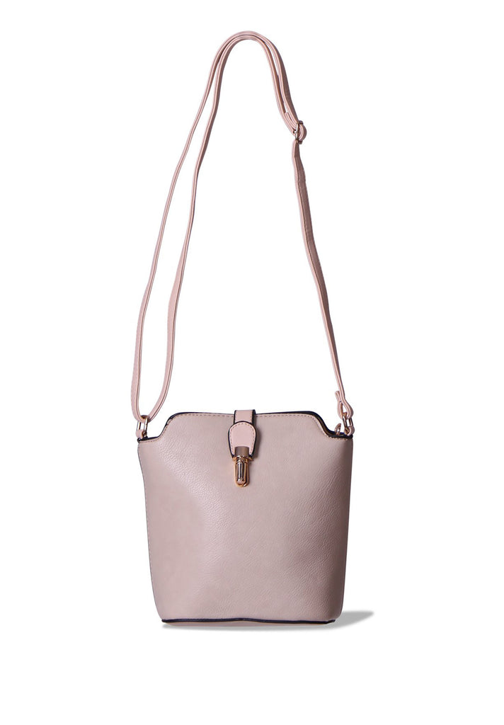 SMB0410-STONE CROSSBODY BUCKET BAG