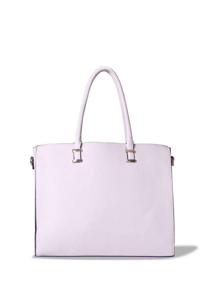 SMB0400-CREAM LARGE SHOPPER BAG