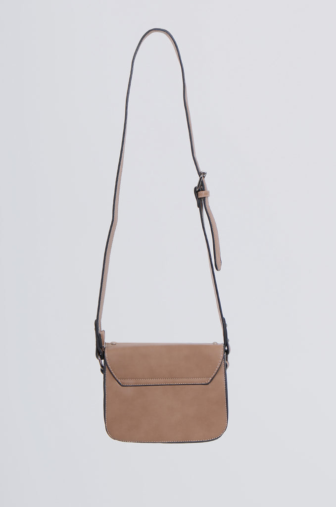 SMB2170-BROWN STUDDED FRONT CROSS BODY BAG view 3