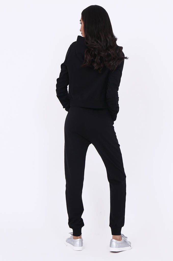 SBG1365-BLACK JEWEL DETAIL SWEATSHIRT & PANTS SET view 3
