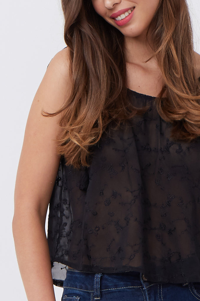 BRODERIE ANGLAISE CAMI