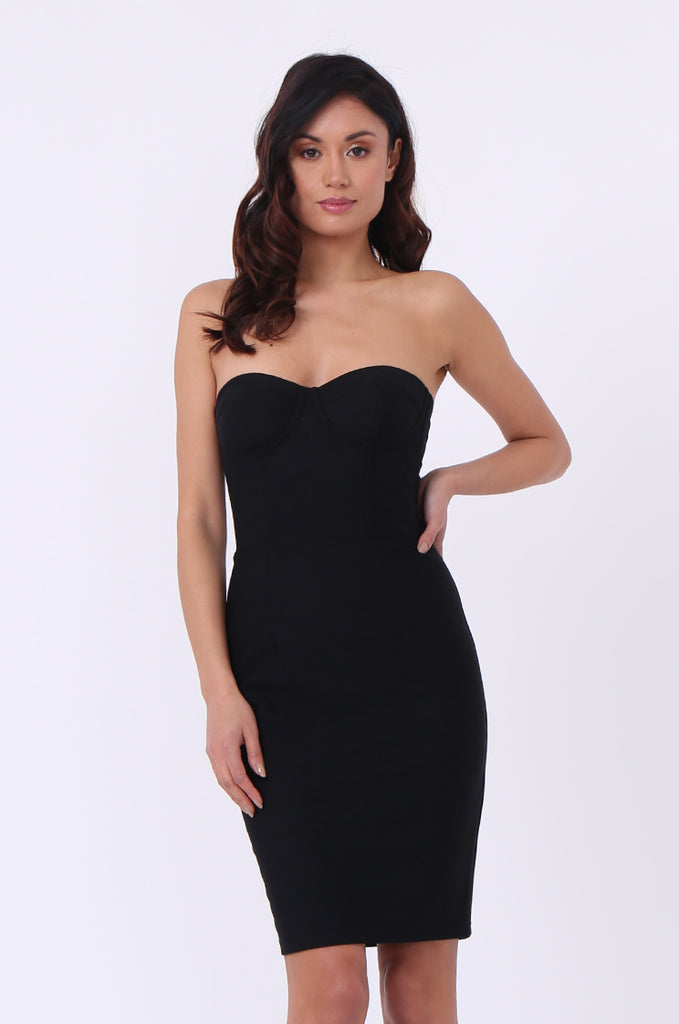 BRA CUP BODYCON DRESS