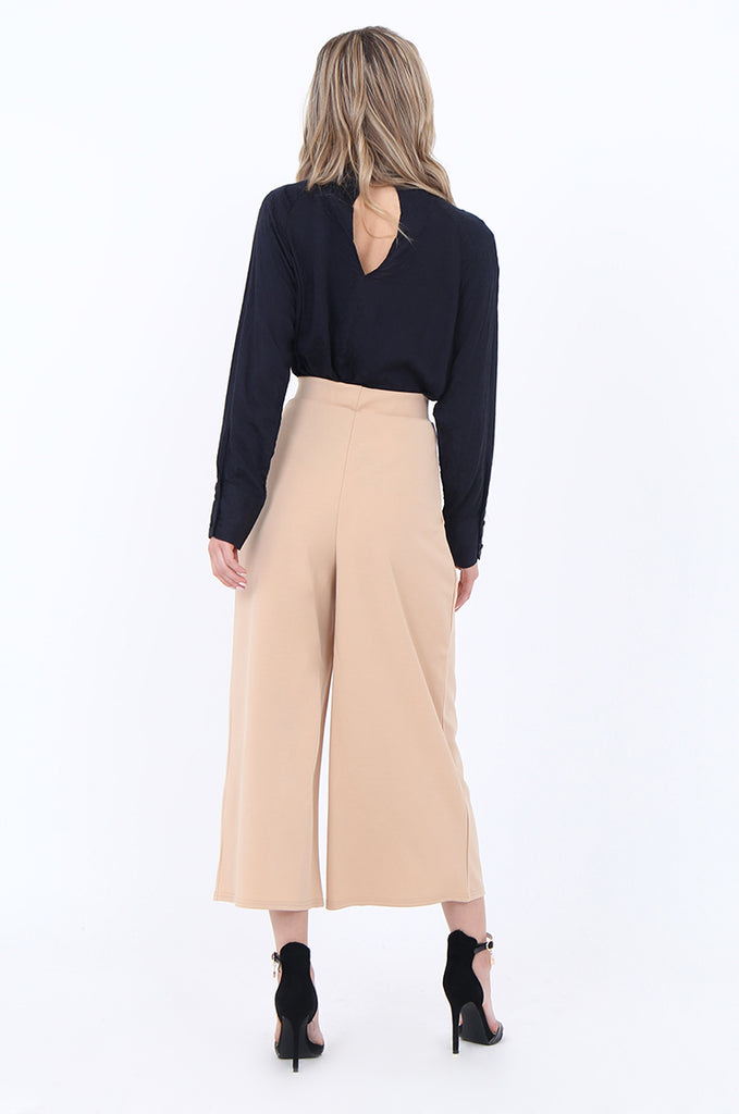 SEF1729-CAMEL PLEAT FRONT CULOTTE view 3