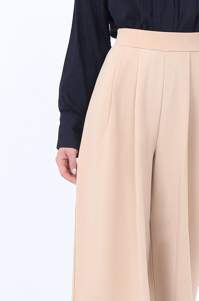 SEF1729-CAMEL PLEAT FRONT CULOTTE view 5