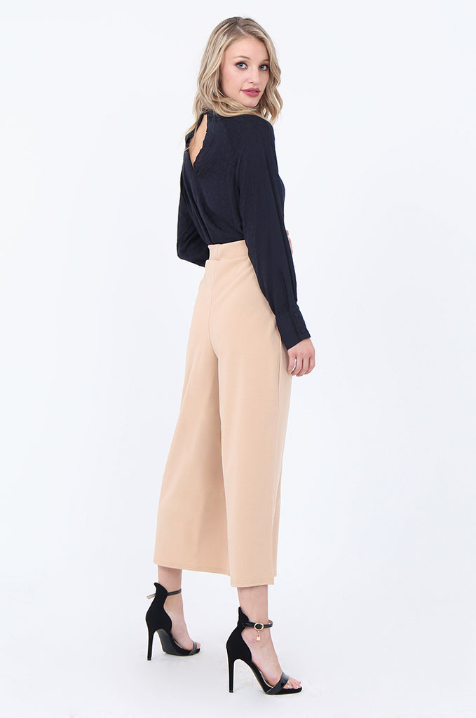 SEF1729-CAMEL PLEAT FRONT CULOTTE view 2