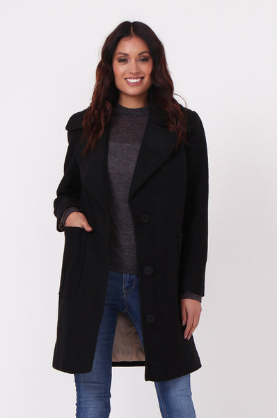 SINGLE BREASTED POCKET COAT