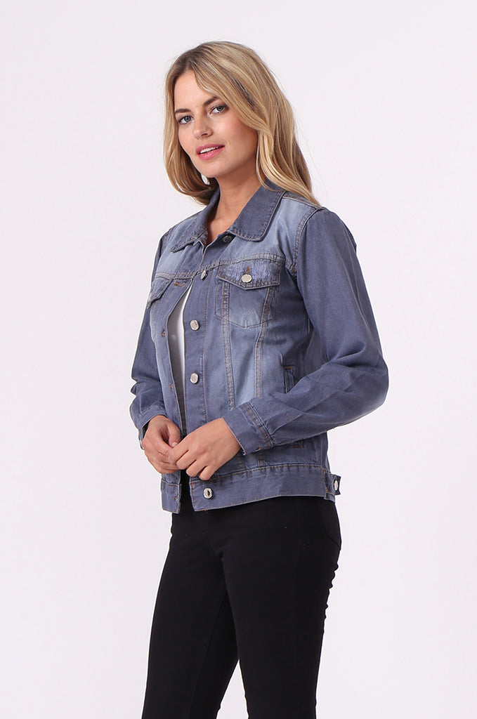 SF0446-GREY DENIM JACKET view 2