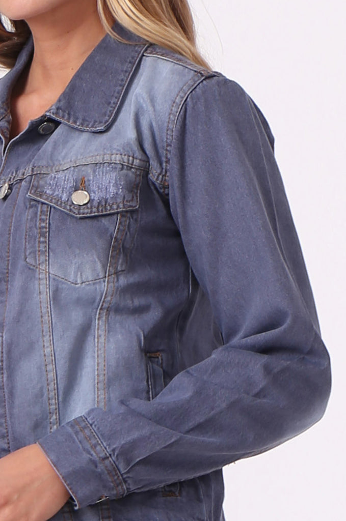 SF0446-GREY DENIM JACKET view 5