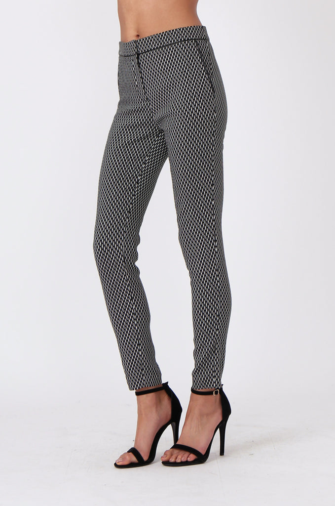 SF0452-BLACK & WHITE CIGARETTE PANT view 4