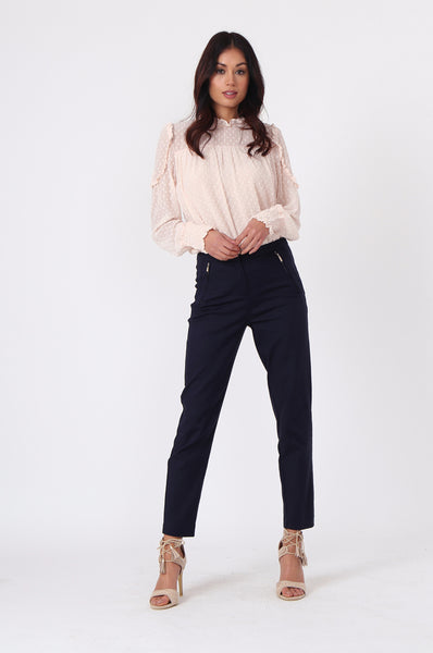 NAVY CIGARETTE PANT