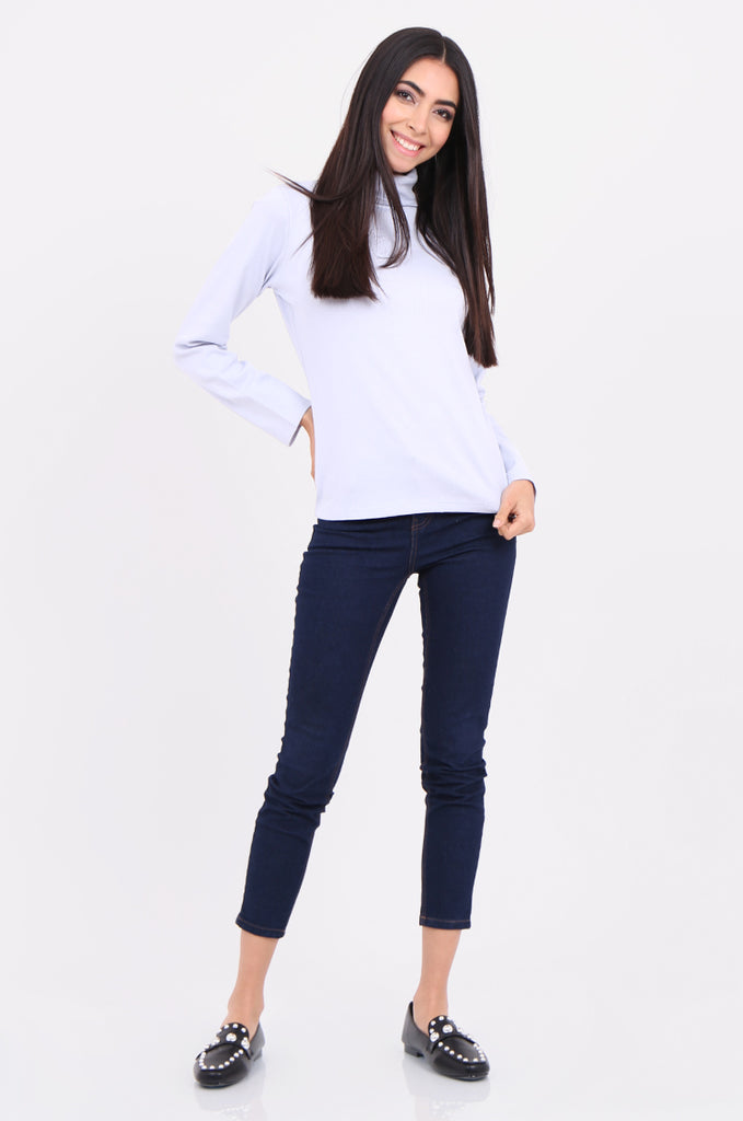 SF2147-BABY BLUE RIB TURTLENECK BASIC TOP view 4