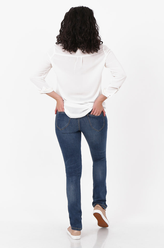 SF2561-BLUE SLIM LEG STRETCH JEANS view 3