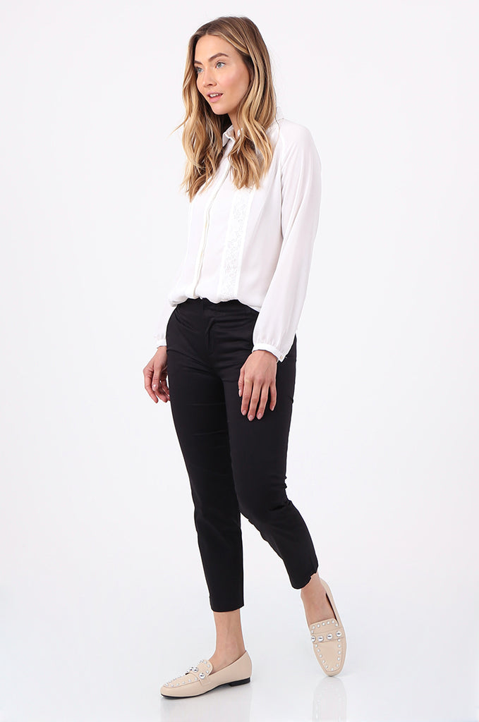 SF2690-BLACK TAILORED CROPPED CHINO TROUSER view 2