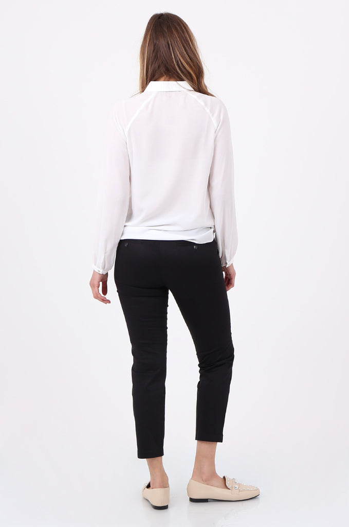 SF2690-BLACK TAILORED CROPPED CHINO TROUSER view 3