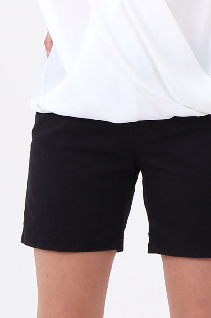 SF2692-BLACK STRAIGHT CHINO SHORTS view 6