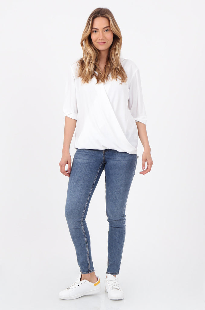 SF2788-BLUE STRETCH SKINNY LEG JEANS view main view