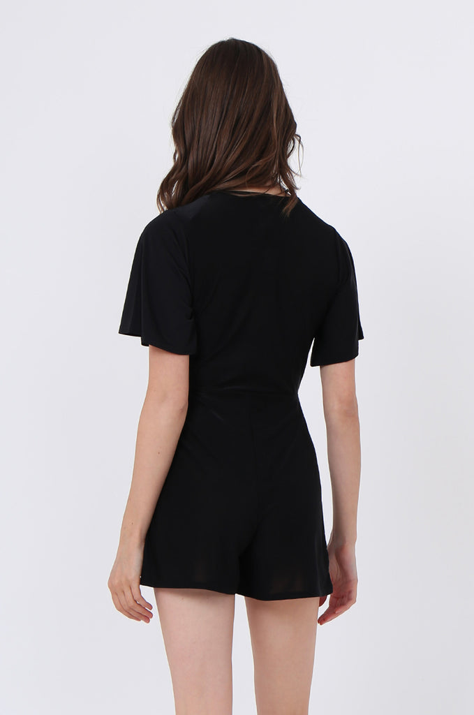 SGN1034-BLACK SHEER JERSEY PLAYSUIT view 3
