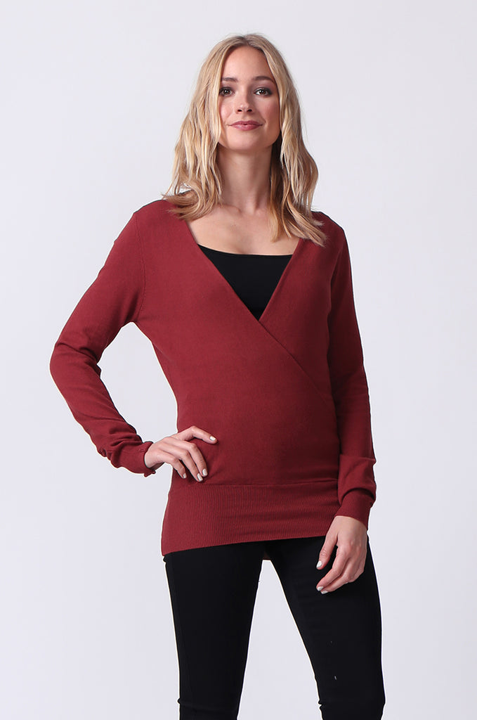 SJ0329-RED WRAPFRONT KEYHOLE BACK JUMPER