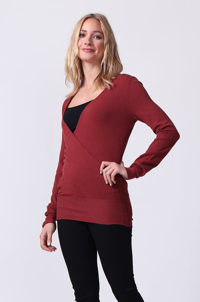 SJ0329-RED WRAPFRONT KEYHOLE BACK JUMPER view 2