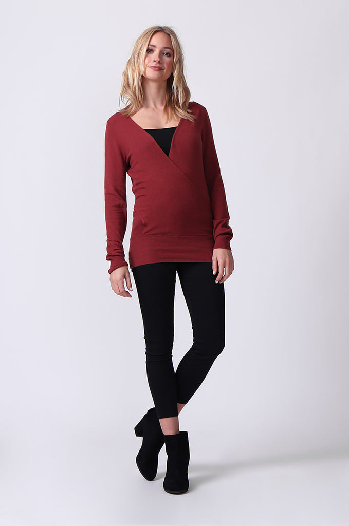 SJ0329-RED WRAPFRONT KEYHOLE BACK JUMPER view 4
