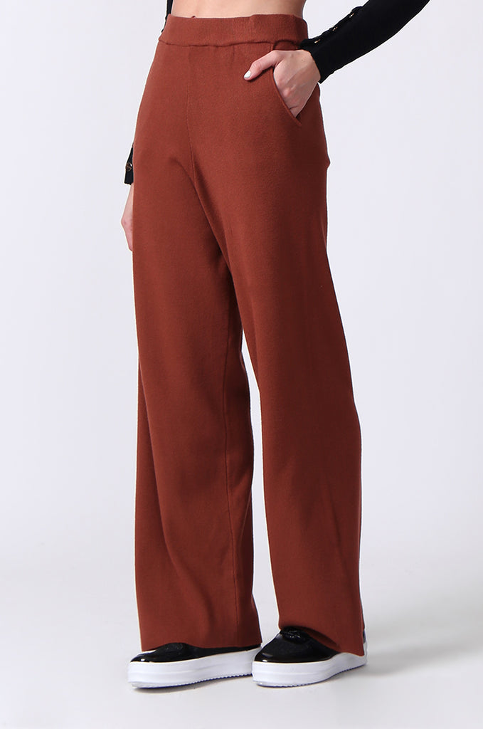 SJ0344-RUST KNIT PANT WITH POCKET view 5