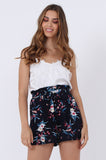 FLORAL POCKET BELT SHORT