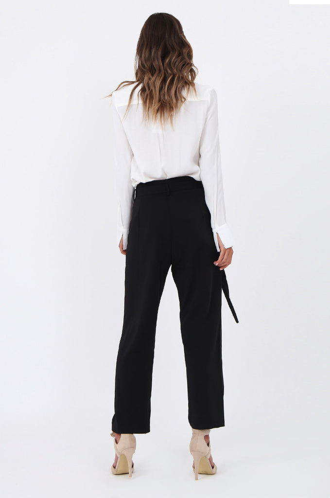 SJ1570-BLACK BELTED TROUSERS view 3