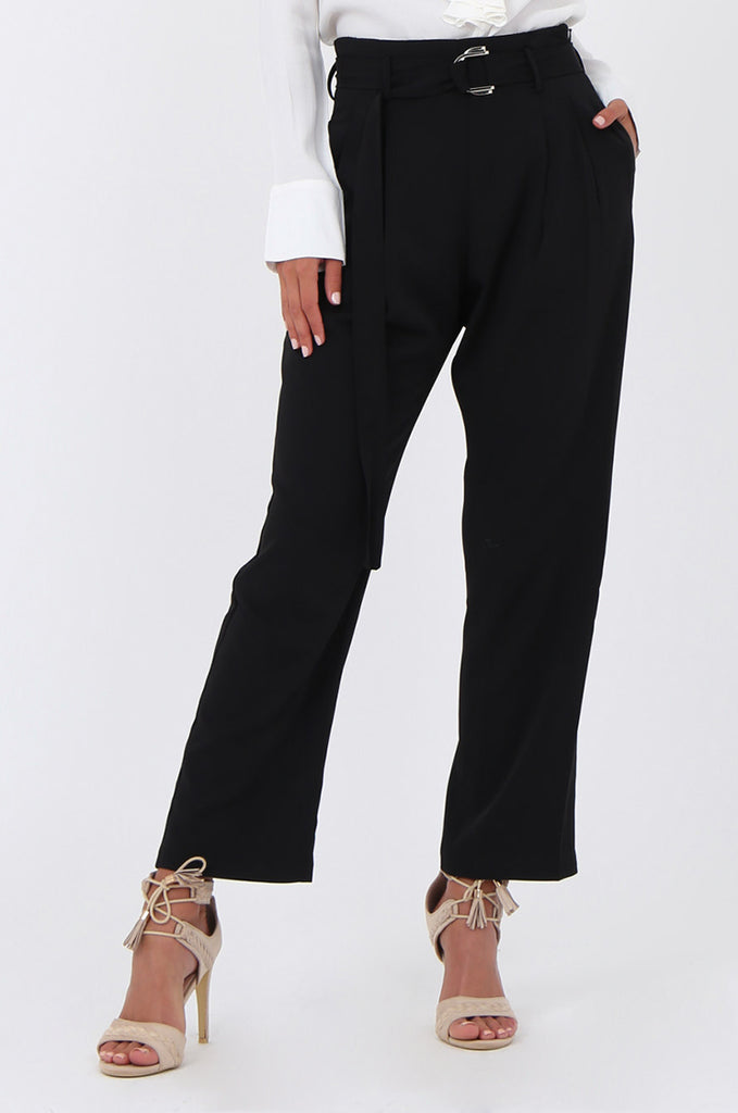 SJ1570-BLACK BELTED TROUSERS view 4