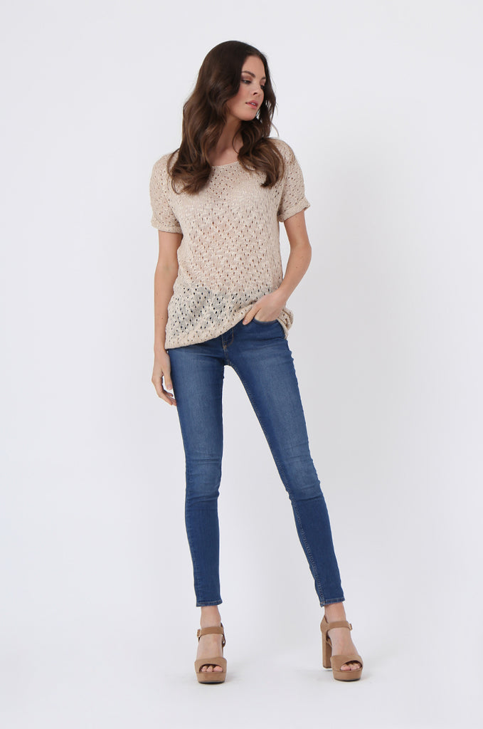 SLJ1072-BEIGE LIGHT WEIGHT KNIT TOP view 4
