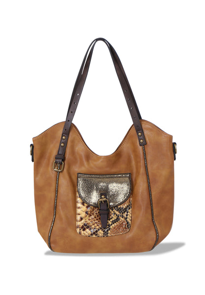 SNAKE POCKET LARGE TOTE BAG