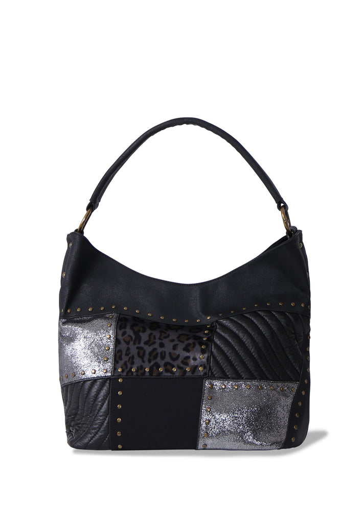 PATCHWORK LARGE SHOULDER TOTE