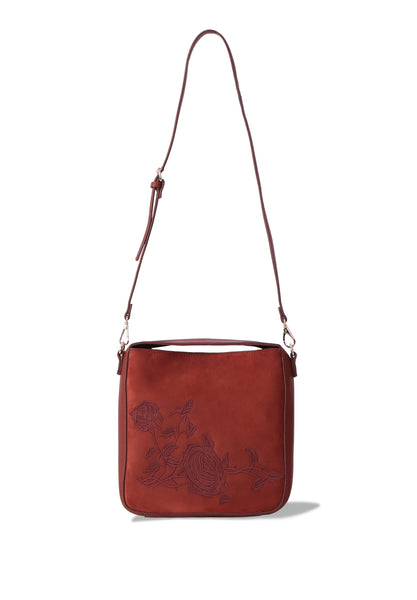 ROSE EMBROIDED SHOULDER BAG