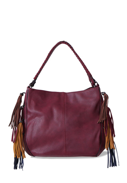 DOUBLE PLAIT STRAP TASSLE BAG